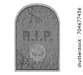 isolated tombstone icon on a... | Shutterstock .eps vector #704677456