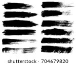 collection of artistic grungy... | Shutterstock . vector #704679820