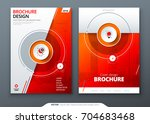cover set. red template for...   Shutterstock .eps vector #704683468