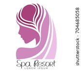 isolated spa logo with a... | Shutterstock .eps vector #704685058
