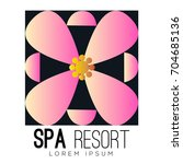 isolated spa logo with a flower ... | Shutterstock .eps vector #704685136