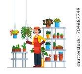 Woman Gardener Or Florist...
