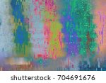 glitchy pixels on led display... | Shutterstock . vector #704691676