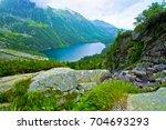 lake in mountains. morskie oko... | Shutterstock . vector #704693293