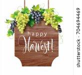 wooden signboard with... | Shutterstock .eps vector #704694469