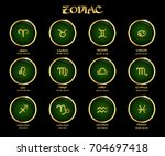 zodiac signs | Shutterstock .eps vector #704697418