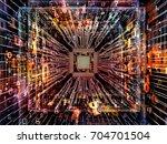 computing machine series.... | Shutterstock . vector #704701504