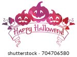 mosaic frame with halloween... | Shutterstock . vector #704706580