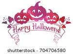 mosaic frame with halloween... | Shutterstock . vector #704706580