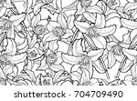 seamless background with... | Shutterstock .eps vector #704709490