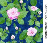 digital painting. roses...   Shutterstock . vector #704713354
