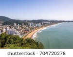 aerial view of itajai city and... | Shutterstock . vector #704720278