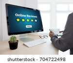 online reviews evaluation time... | Shutterstock . vector #704722498