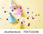 colorful party hats for kids... | Shutterstock . vector #704723248