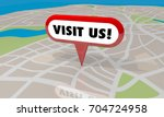 visit us map pin location come... | Shutterstock . vector #704724958