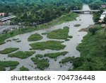 aerial view of thai village and ... | Shutterstock . vector #704736448