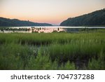 seagrass marshes  mudflats and... | Shutterstock . vector #704737288