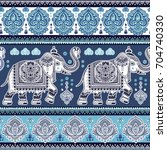 vintage graphic vector indian... | Shutterstock .eps vector #704740330