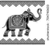 vintage graphic vector indian... | Shutterstock .eps vector #704740603