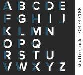 strips alphabet letters set.... | Shutterstock .eps vector #704747188