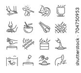 cooking line icon set. included ... | Shutterstock .eps vector #704750953