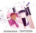 crushed eyeshadow make up blush ... | Shutterstock . vector #704755594