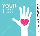 hands raising love with heart | Shutterstock .eps vector #704757718