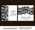 romantic invitation. wedding ... | Shutterstock .eps vector #704761879