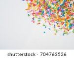 sugar sprinkle dots  decoration ... | Shutterstock . vector #704763526