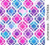 Stock photo watercolor abstract geometric pattern arab tiles kaleidoscope effect watercolor mosaic 704764066