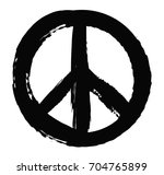 grunge peace sign.vector grunge ...   Shutterstock .eps vector #704765899