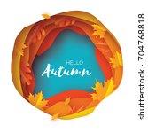 Autumn Paper Cut Leaves. Hello...