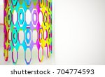 abstract dynamic interior with... | Shutterstock . vector #704774593