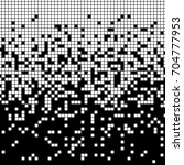 fading pixel pattern. black and ... | Shutterstock .eps vector #704777953