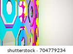 abstract dynamic interior with... | Shutterstock . vector #704779234