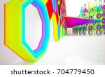 abstract dynamic interior with... | Shutterstock . vector #704779450
