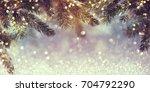 Abstract Christmas Lights On...