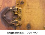 Rusty Old Hinge From A Train...