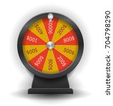 spinning wheel of fortune.... | Shutterstock .eps vector #704798290