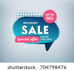 sale banner design. vector... | Shutterstock .eps vector #704798476