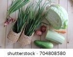 wonderful rustic still life... | Shutterstock . vector #704808580