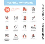hospital wayfinding   set of... | Shutterstock .eps vector #704809510