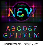 colorful dynamic liquid ink... | Shutterstock .eps vector #704817094