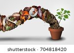 compost and composting symbol... | Shutterstock . vector #704818420