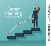 career planning. businessman... | Shutterstock .eps vector #704819290