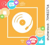 vinyl record turntable icon | Shutterstock .eps vector #704822716