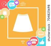 skirt icon  the silhouette.... | Shutterstock .eps vector #704825698