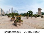 chicago downtown skyline with... | Shutterstock . vector #704826550
