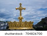 loudes famous french town for... | Shutterstock . vector #704826700