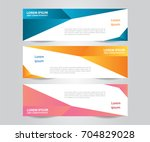 set of modern colorful banner... | Shutterstock .eps vector #704829028